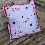 Valentines Day Pillow Decor with i Love to Create