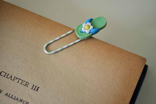 Flip Flop Bookmark Close-Up
