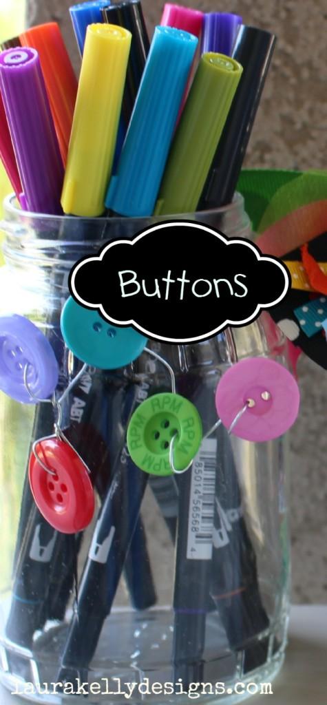Button Up a Teacher Gift in a Flash - Fifteen MINUTE Friday