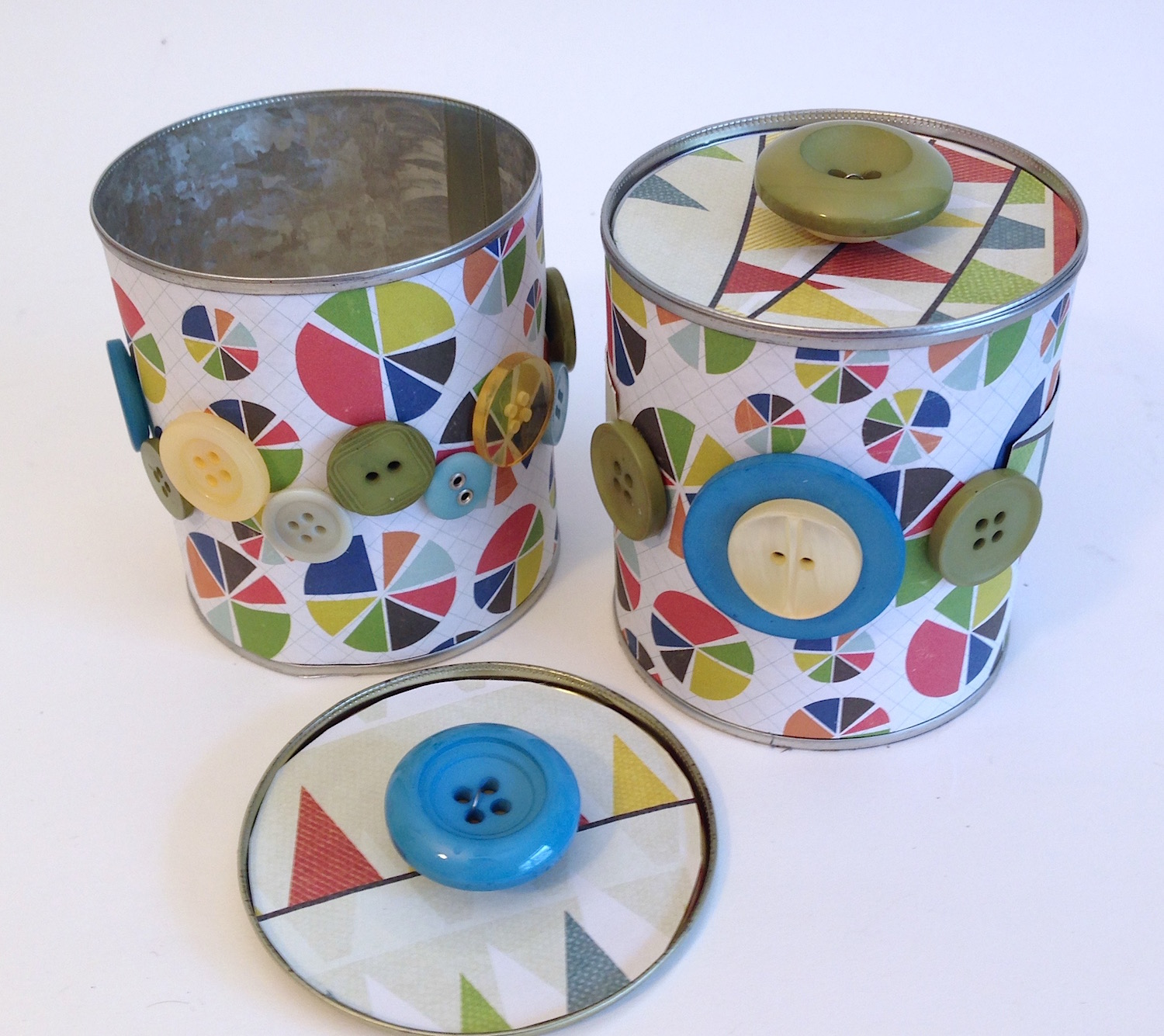 upcycled tin can storage lisa fulmer