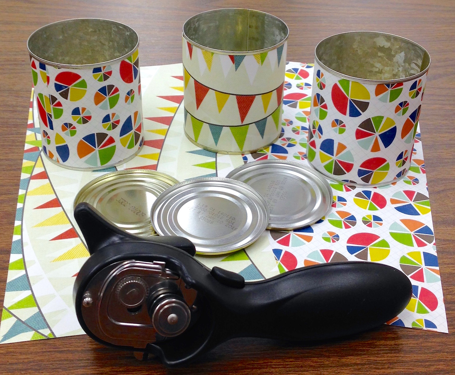 upcycled tin can supplies