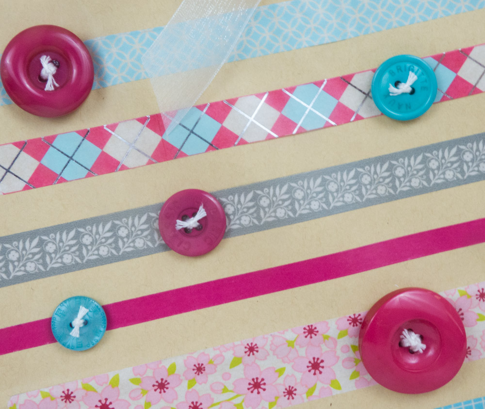 washi tape and buttons