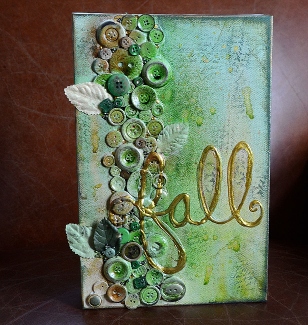 Fall Canvas by May Flaum for Buttons Galore