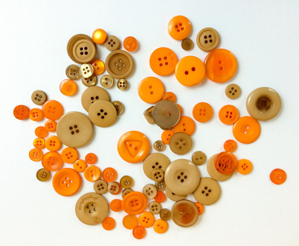Caramel and Outlandish Orange by Buttons Galore