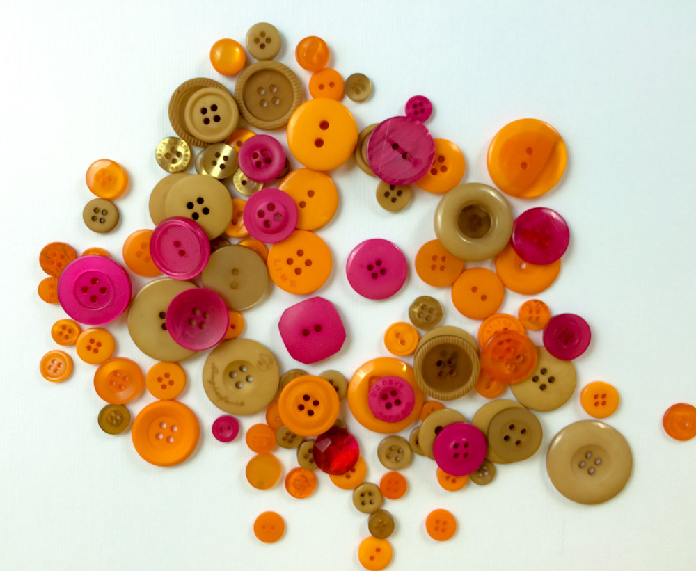 Fall leaf button mix