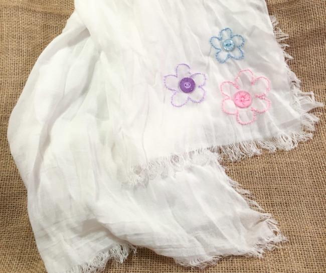 Hand stitched scarf