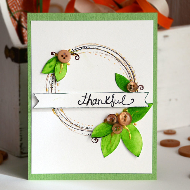 thankful card by May Flaum