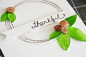 Thankful Card by May Flaum step 2