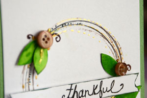 Thankful card by May Flaum for Buttons Galore