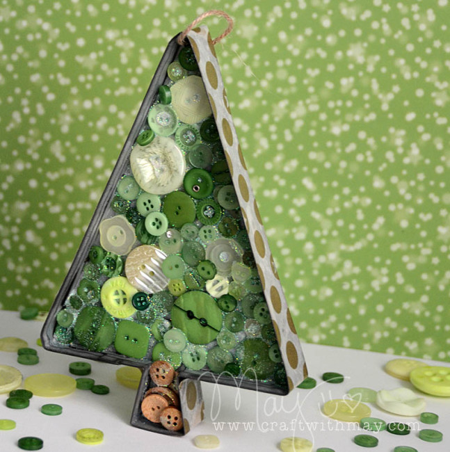 Christmas Tree Ornament by May Flaum for Buttons Galore