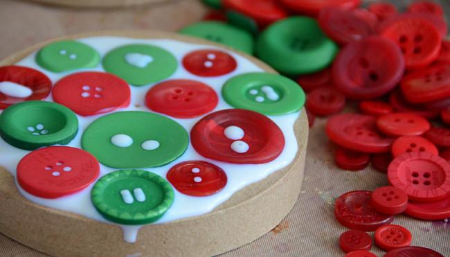 Gluing Buttons