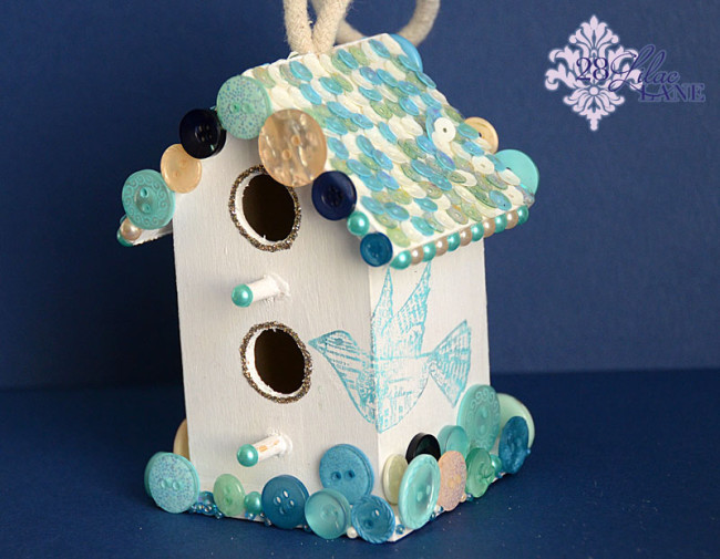 Birdhouse using 28 Lilac Lane by Buttons Galore