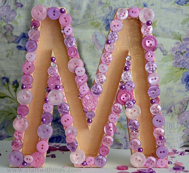 Button Monogram with 28 Lilac Lane