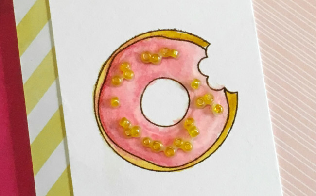 donut card close-up