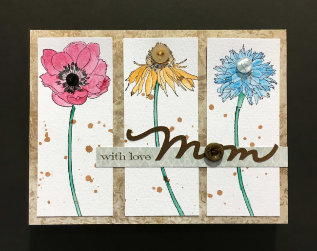 Handmade Floral Mothers Day Card