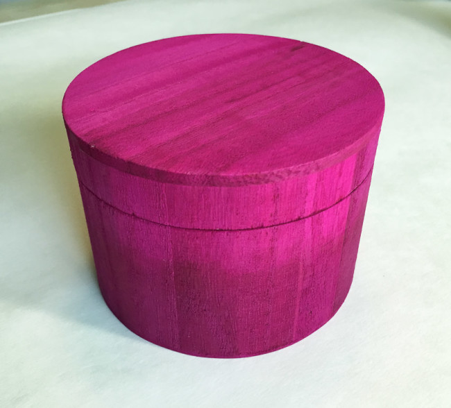 wood trinket box with ombre Ultra Dye