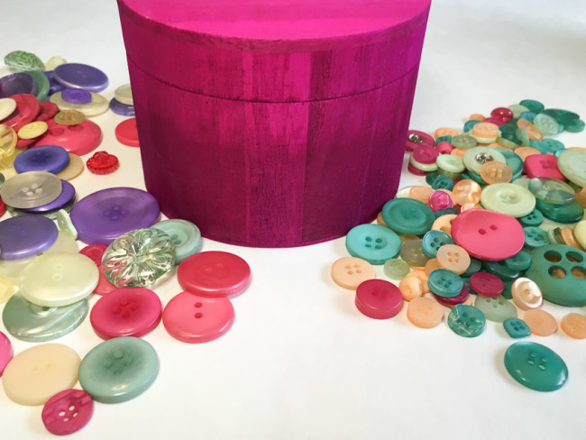 Buttons to match wood trinket box