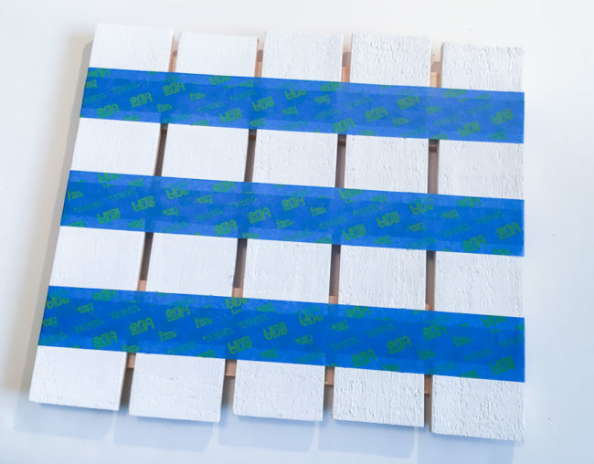 Painting flag stripes on pallet