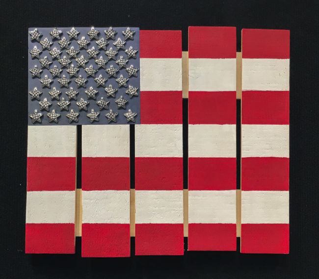Easy Pallet Flag project by Nancy Nally for Buttons Galore