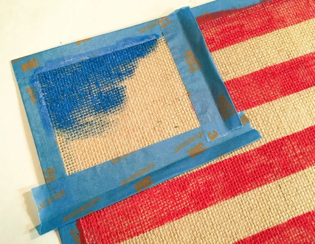 Holiday Frame Flag in progress