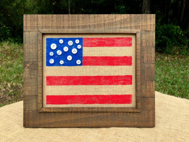 Rustic Flag Frame