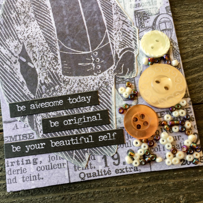 Mixed Media Tag detail