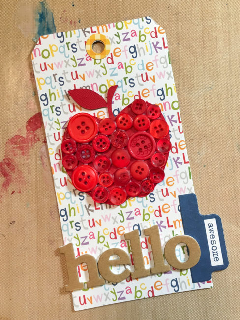 Teacher Tag for Back to School | Nancy Nally for buttonsgaloreandmore.net