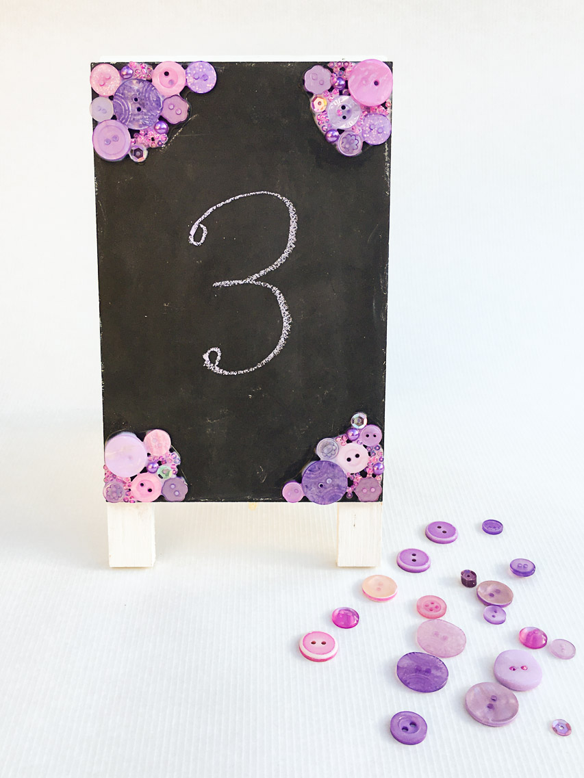 DIY Wedding Chalkboard Table Number