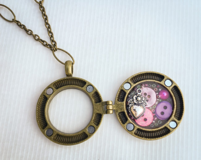 mixed media locket