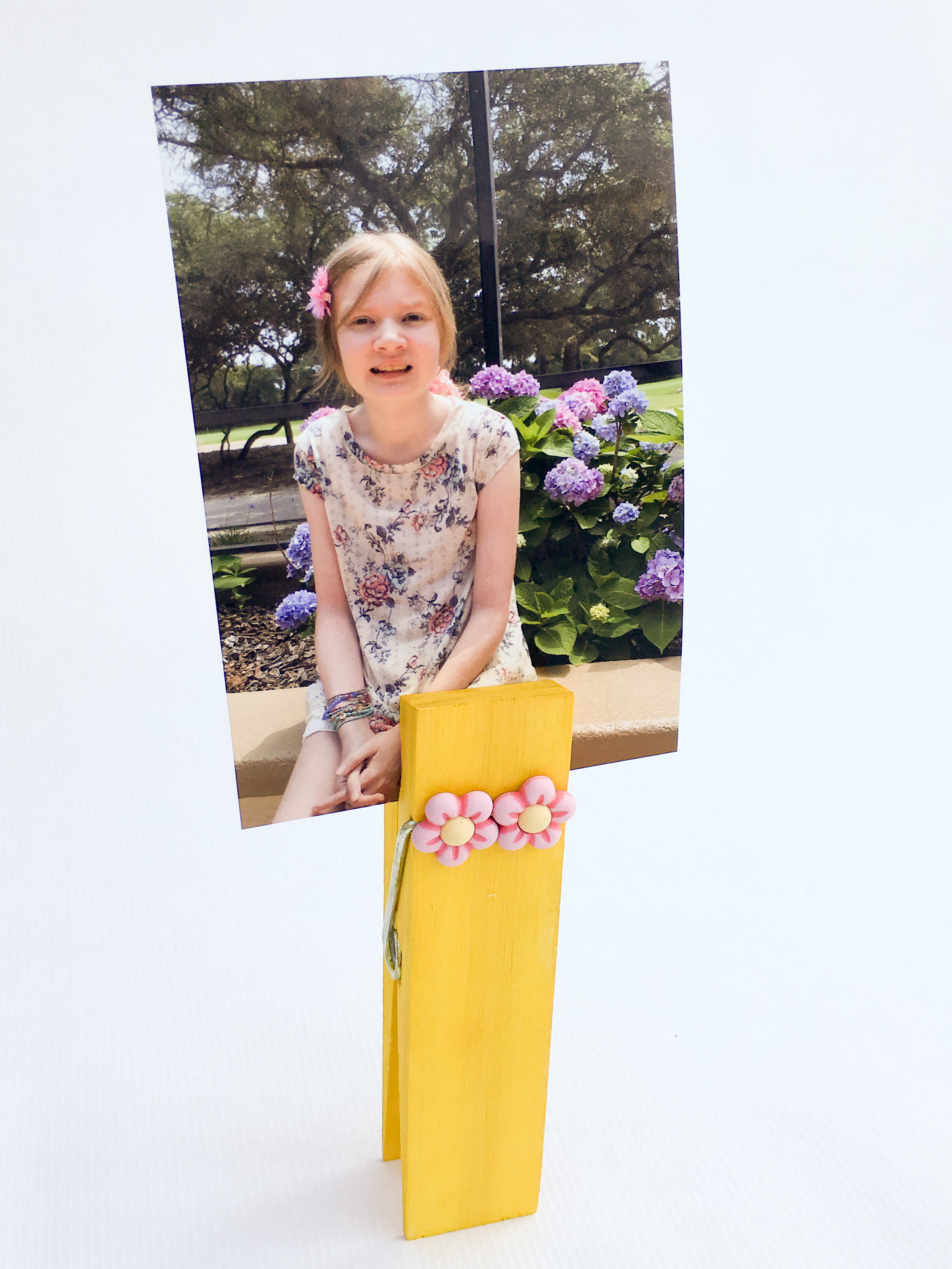 Giant Clothes Pin Photo Holder
