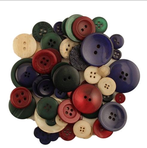 Argyle Button Tote