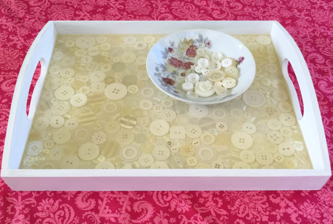 Button Vintage Tray