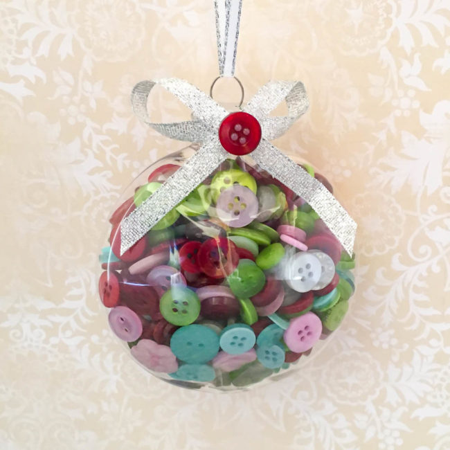Christmas Ornament Full of Buttons