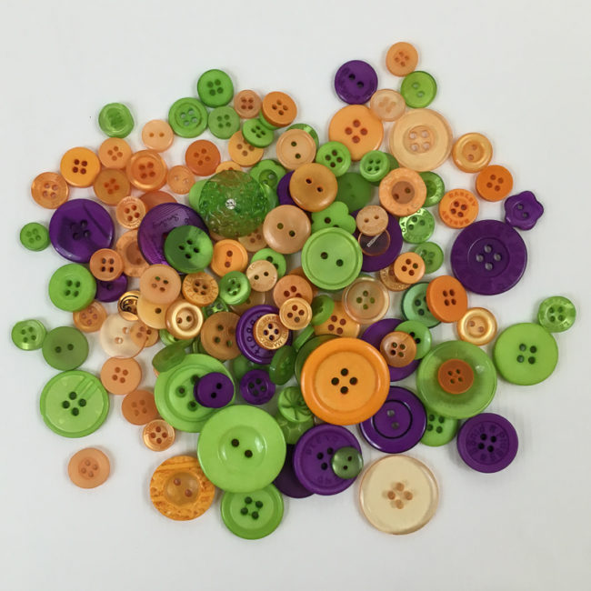 Trick or Treat Button Basics by Buttons Galore
