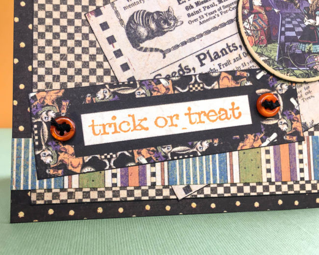 trick or treat halloween card close-up