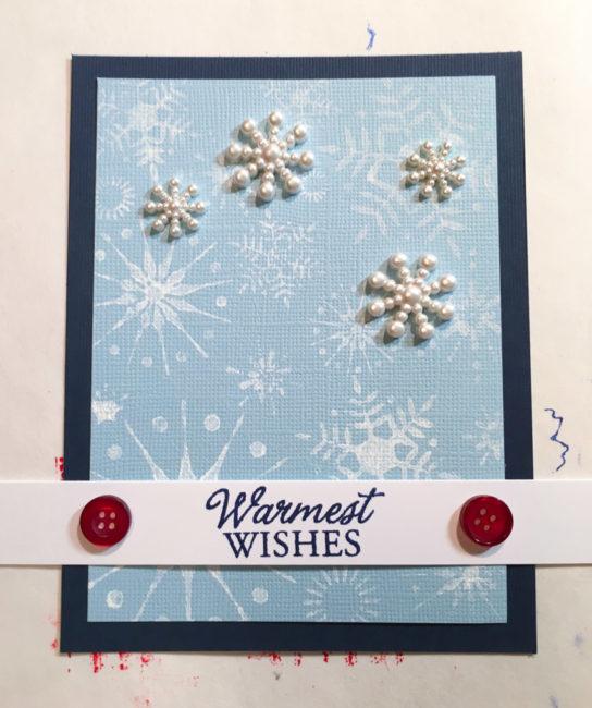 assembling snowflake card