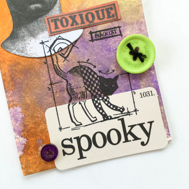 Spooky Halloween Tag close-up