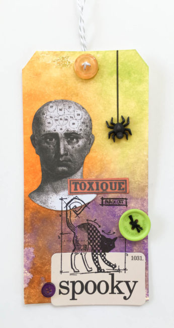 Spooky Halloween Tag by Nancy Nally for Buttons Galore