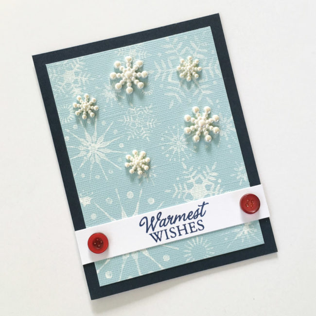 Snowflake holiday card