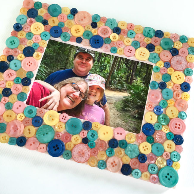 Button Frame with Glam Girl Buttons by Buttons Galore