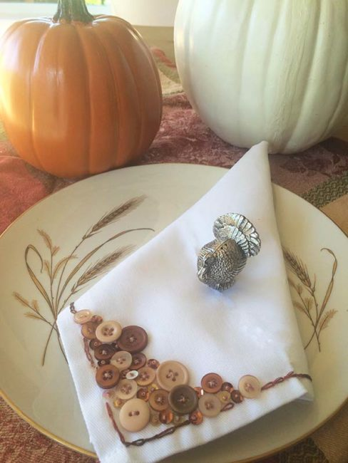 embellished thanksgiving napkins