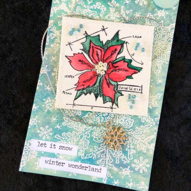 DIY Holiday Gift Tag close-up