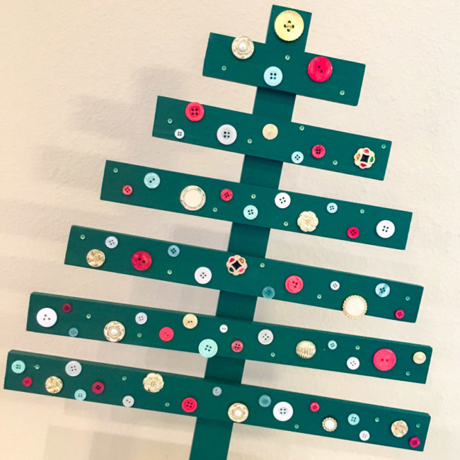 Pallet Christmas Tree with Trunk Attached