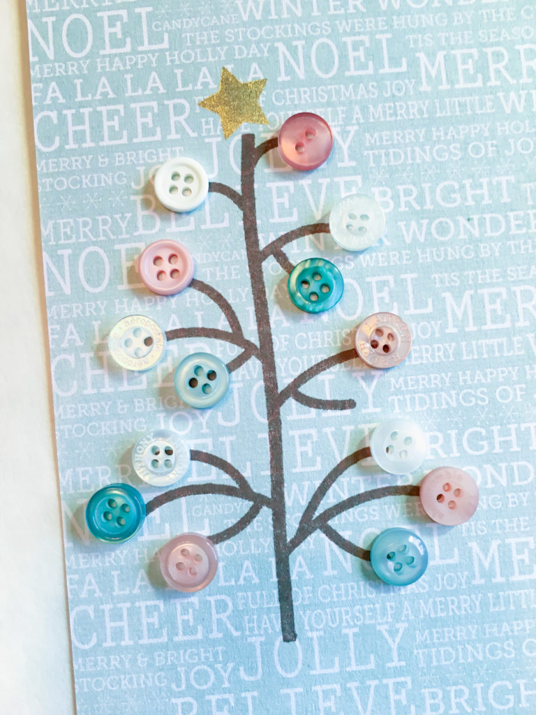 Pastel Button Christmas tree Close-up