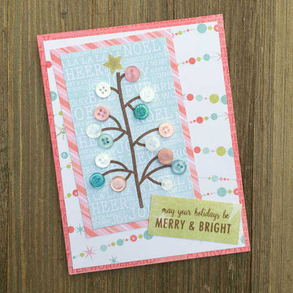 Pretty Pastel Christmas Tree Card