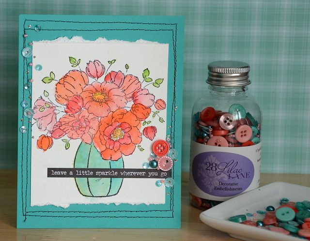 Watercolor Flower Card by May Flaum for 28 Lilac Lane