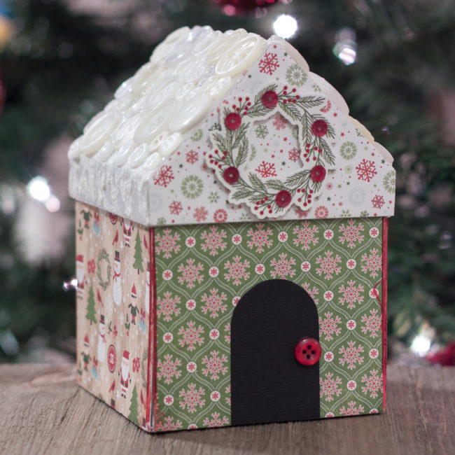 Christmas Village Gift Box by Nancy Nally for Buttons Galore