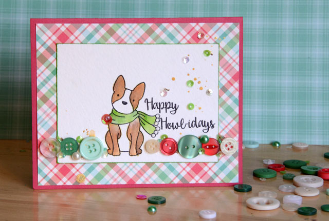 Dog 28 Lilac Lane Christmas Card