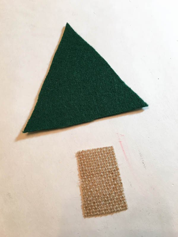 Felt Christmas Tree Ornament assembly