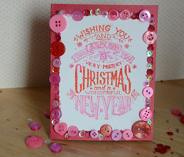 Pink 28 lilac lane Christmas Card